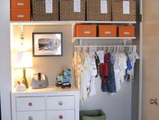 small baby's room organized